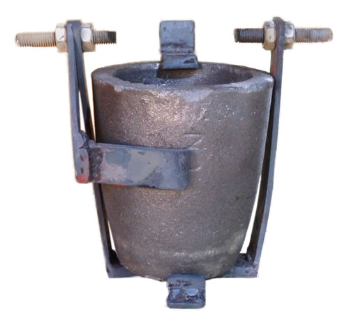 Crucible Cradle for Casting Metals at home