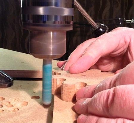 Steel bar with glued sandpaper makes a nice drum sander